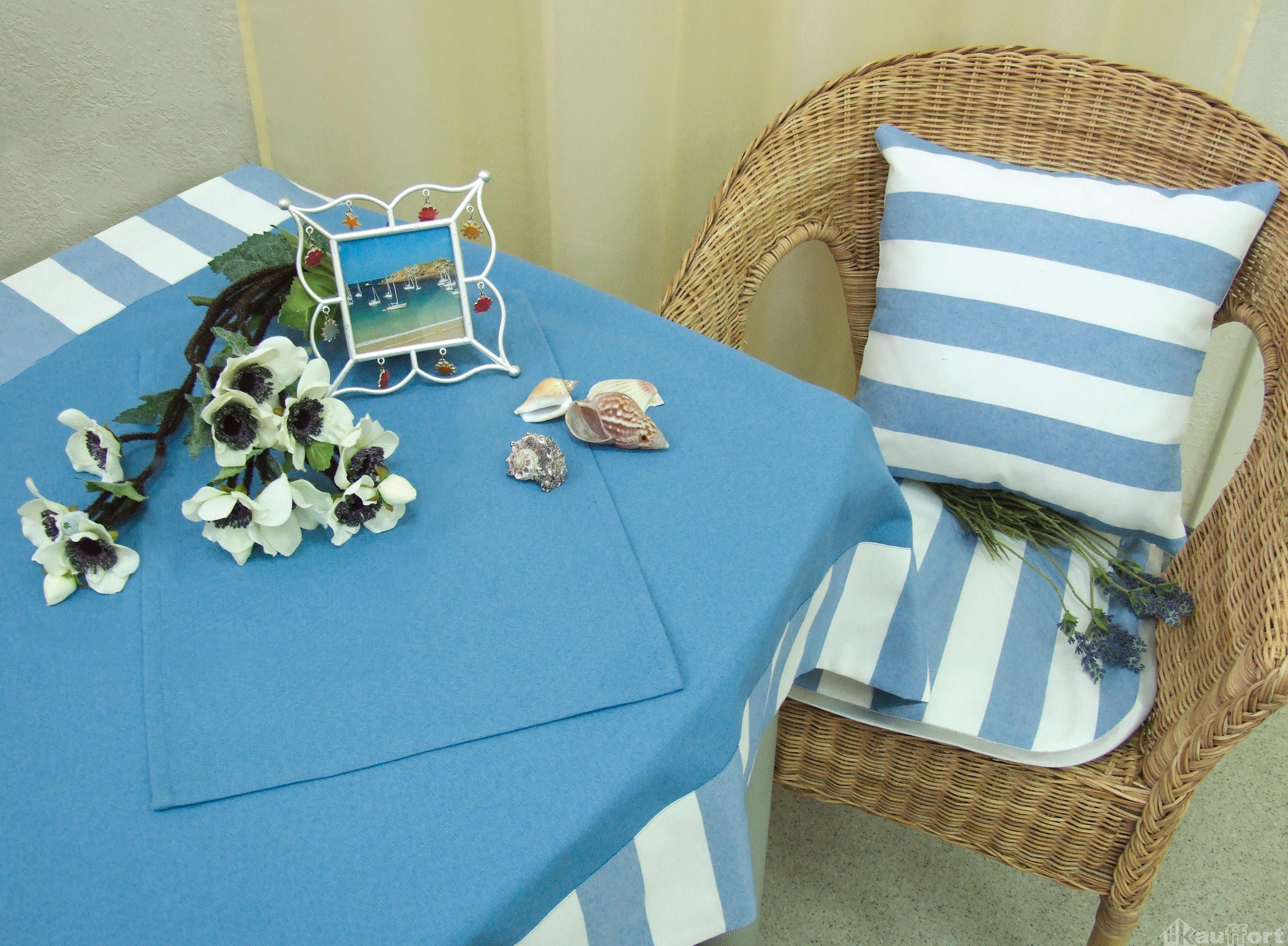 Подушки на стул Kauffort Подушка на стул Krit Цвет: Молоко-Голубой (40х40) подушка на стул арти м райский сад