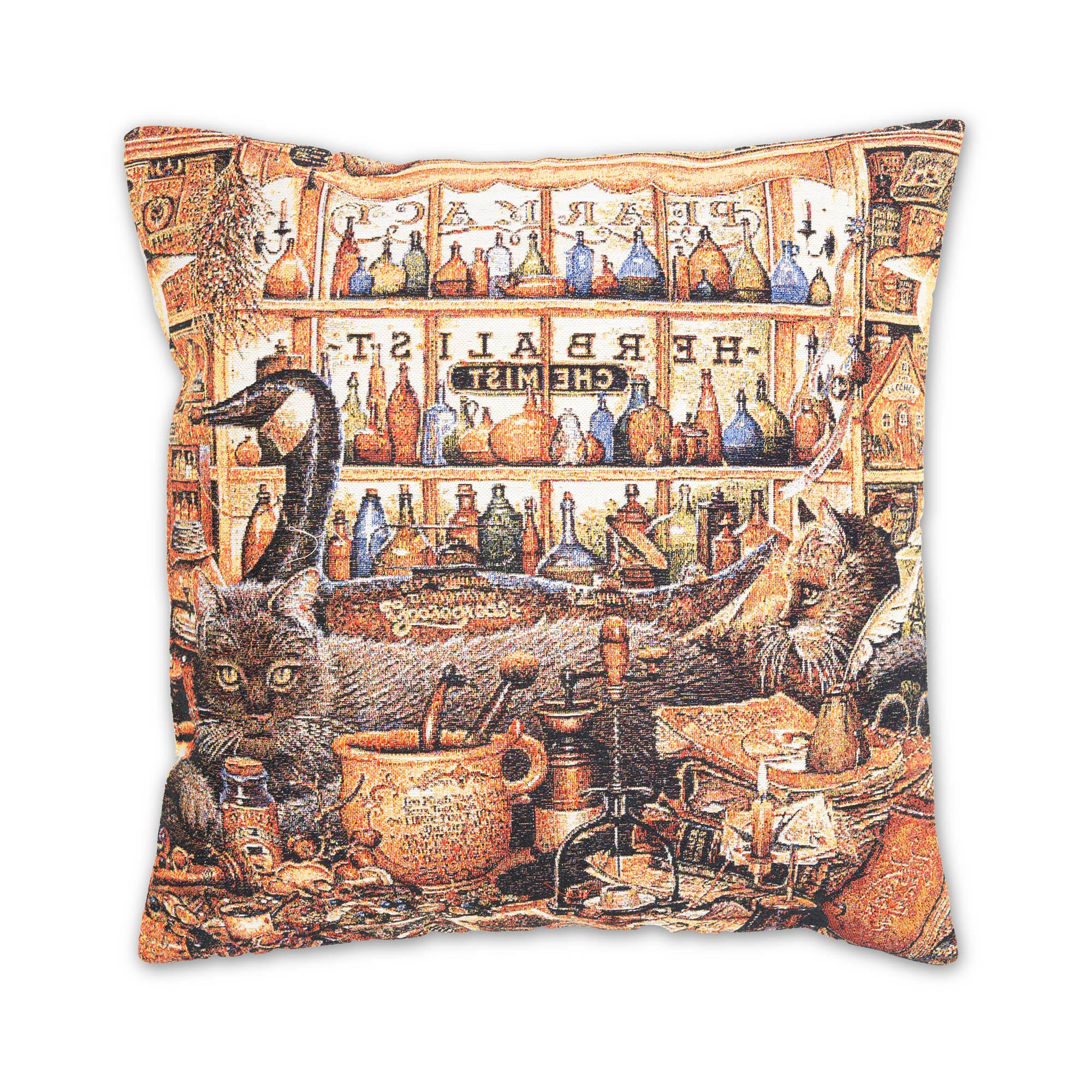 Декоративные подушки A La Gobelin Декоративная подушка Кот Алхимик (45х45) декоративные подушки оранжевый кот подушка игрушка медведь чистые погоны чистая совесть