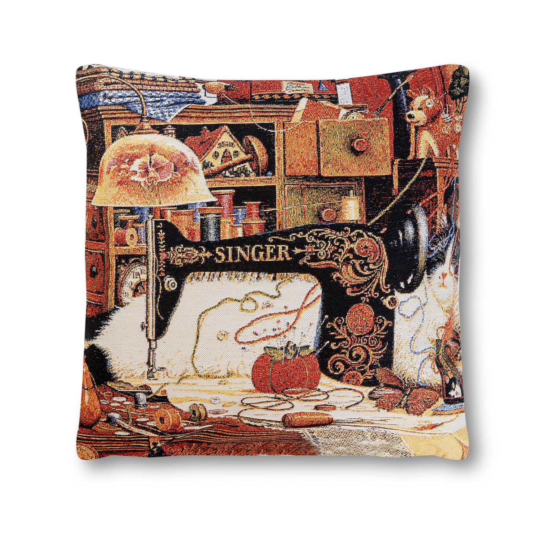 Декоративные подушки A La Gobelin Декоративная подушка Кот Портной (45х45) декоративные подушки оранжевый кот подушка игрушка медведь чистые погоны чистая совесть