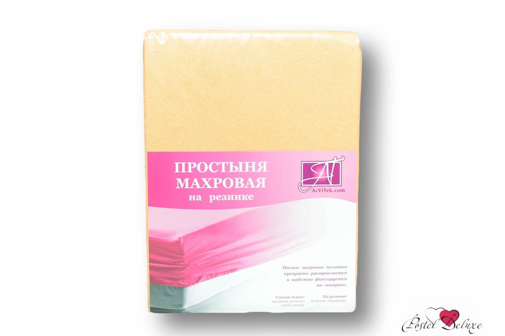 Простыни AlViTek Простыня на резинке Abegail Цвет: Персиковый (90х200 см)