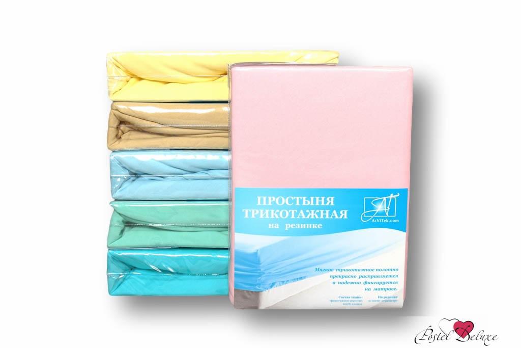 где купить Простыни AlViTek Простыня на резинке Barrett Цвет: Розовый (90х200 см) по лучшей цене