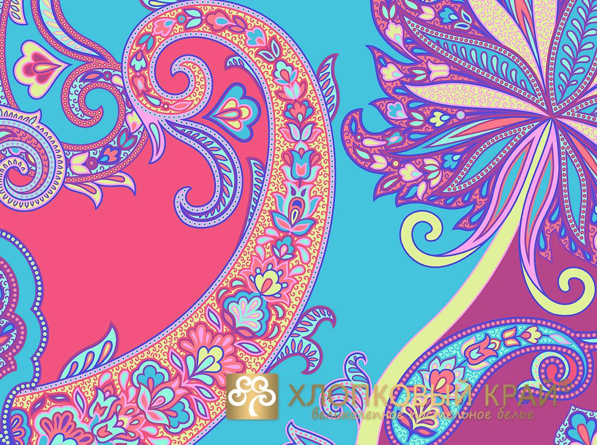 Постельное белье Хлопковый Край Постельное белье Анамур Цвет: Коралловый (2 спал.)