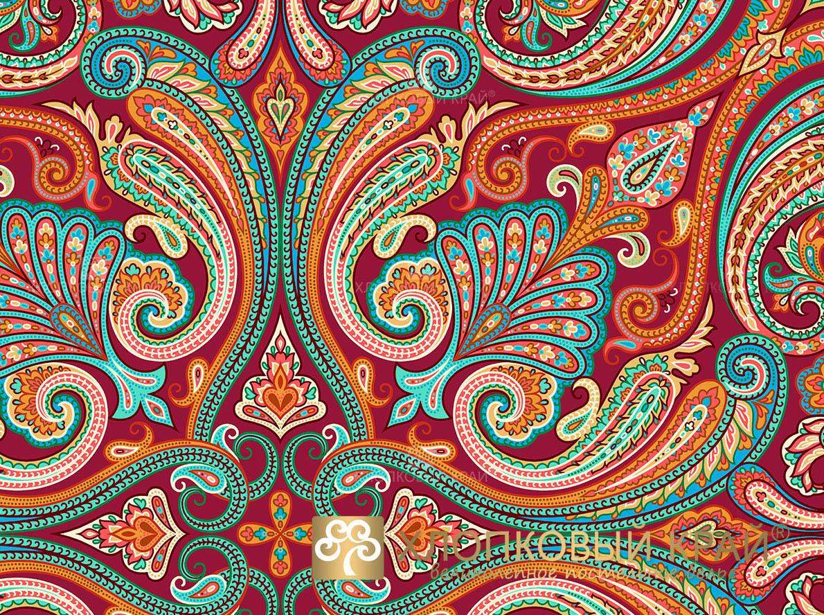 Постельное белье Хлопковый Край Постельное белье Анкара Цвет: Бургунди (2спал.)