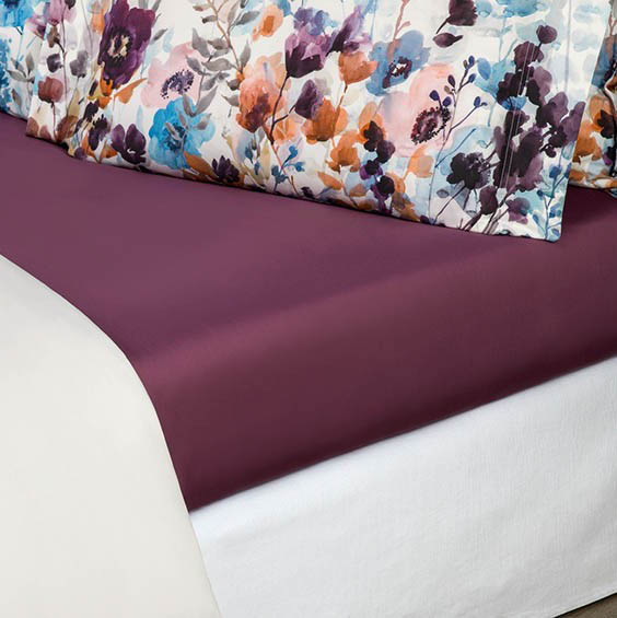 где купить Простыни Togas Простыня на резинке Аннабель Цвет: Фиолетовый (180х200) по лучшей цене