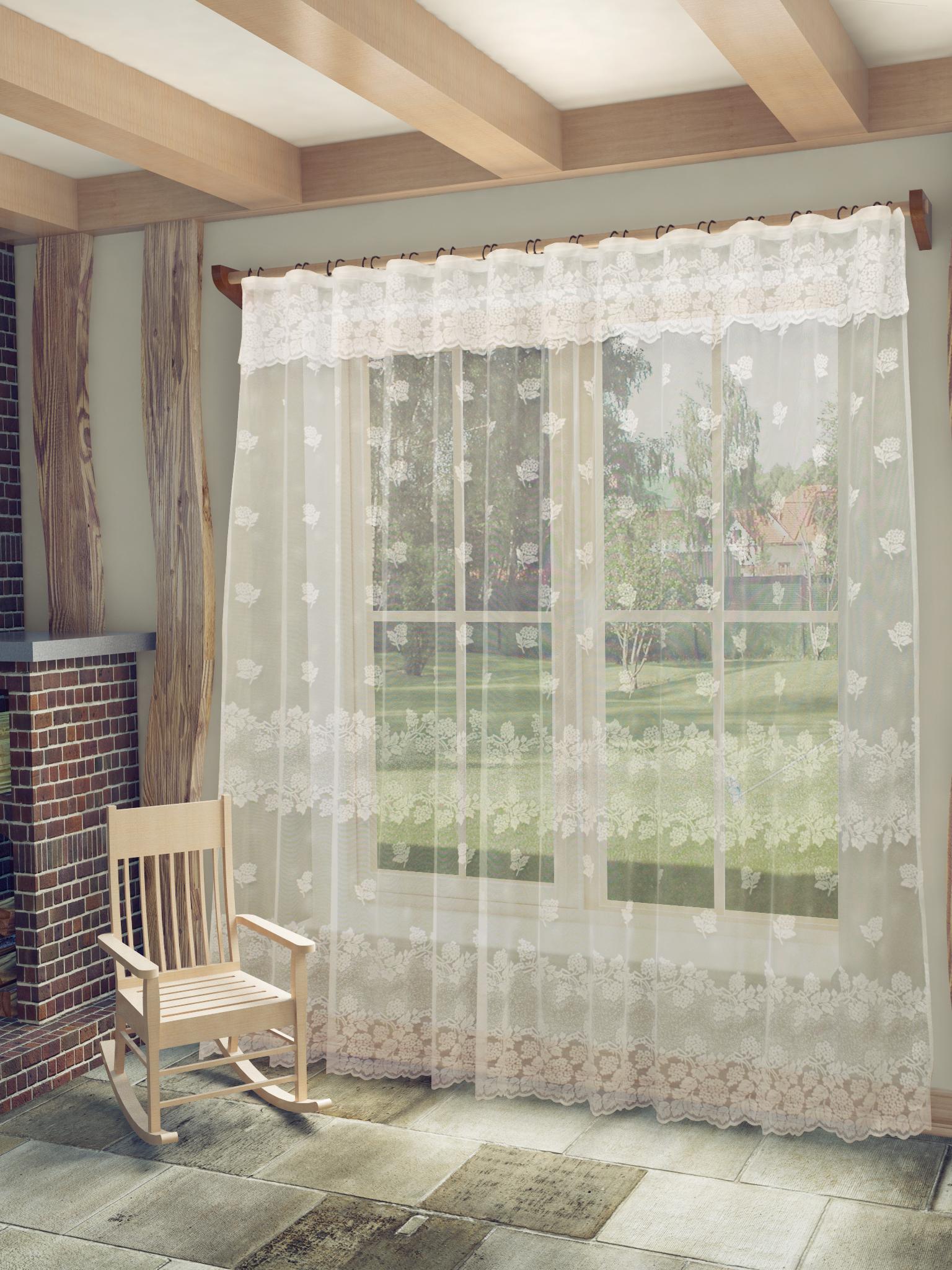 Шторы Sanpa Шторы с ламбрекеном Арабела Цвет: Белый как тюль на окно