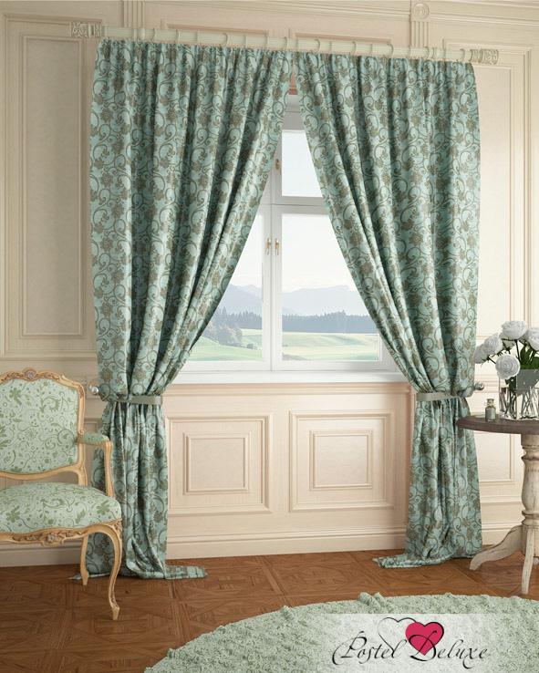 Шторы ARCODORO Классические шторы Вензеля Цвет: Зеленый