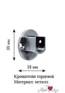 Карнизы и аксессуары для штор ARCODORO Крепление торцевое Цвет: Хром оптом крепление для авторегистратора