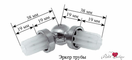 Карнизы и аксессуары для штор ARCODORO Эркер Цвет: Хром эркер 3 см цвет белый антик