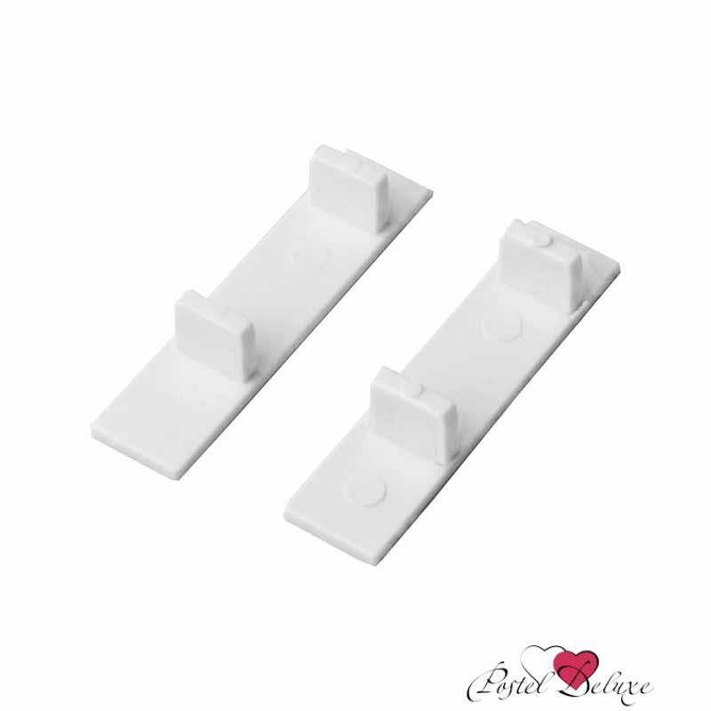 Карнизы и аксессуары для штор ARCODORO Торцевая заглушка для2-рядной и 3-ряднойшины Цвет: Белый шины