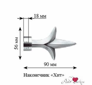 Карнизы и аксессуары для штор ARCODORO Наконечник для карнизов Хит Цвет: Золото Антик