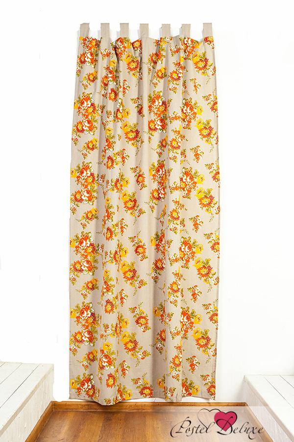 Шторы Arloni Классические шторы Флауэрс Цвет: Оранжевый