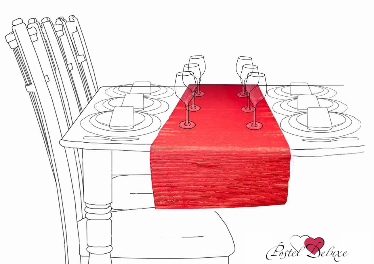 {} Arloni Дорожка на стол Фест Цвет: Красный (33х140 см)