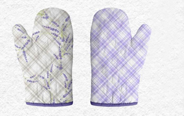 {} Романтика Прихватка-рукавичка Аромат Лаванды комплект для кухни фартук прихватка рукавичка