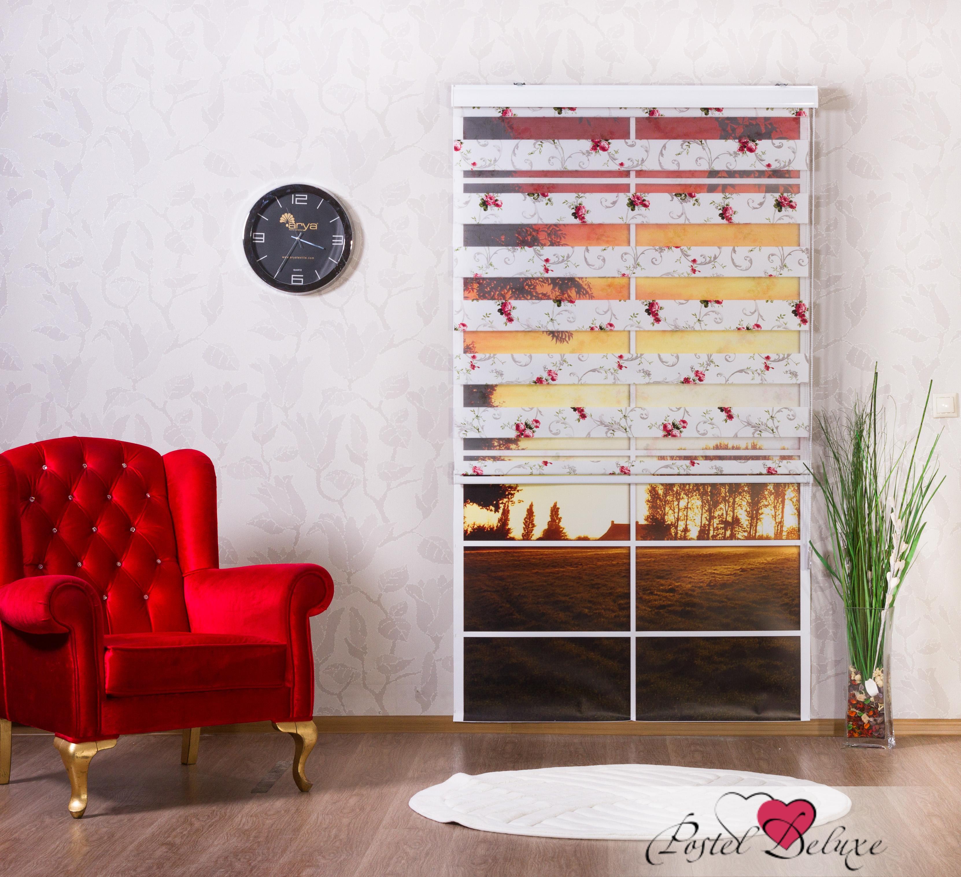 Римские и рулонные шторы Arya Рулонные шторы CreeperЦвет: Белый с рисунком (120х200)