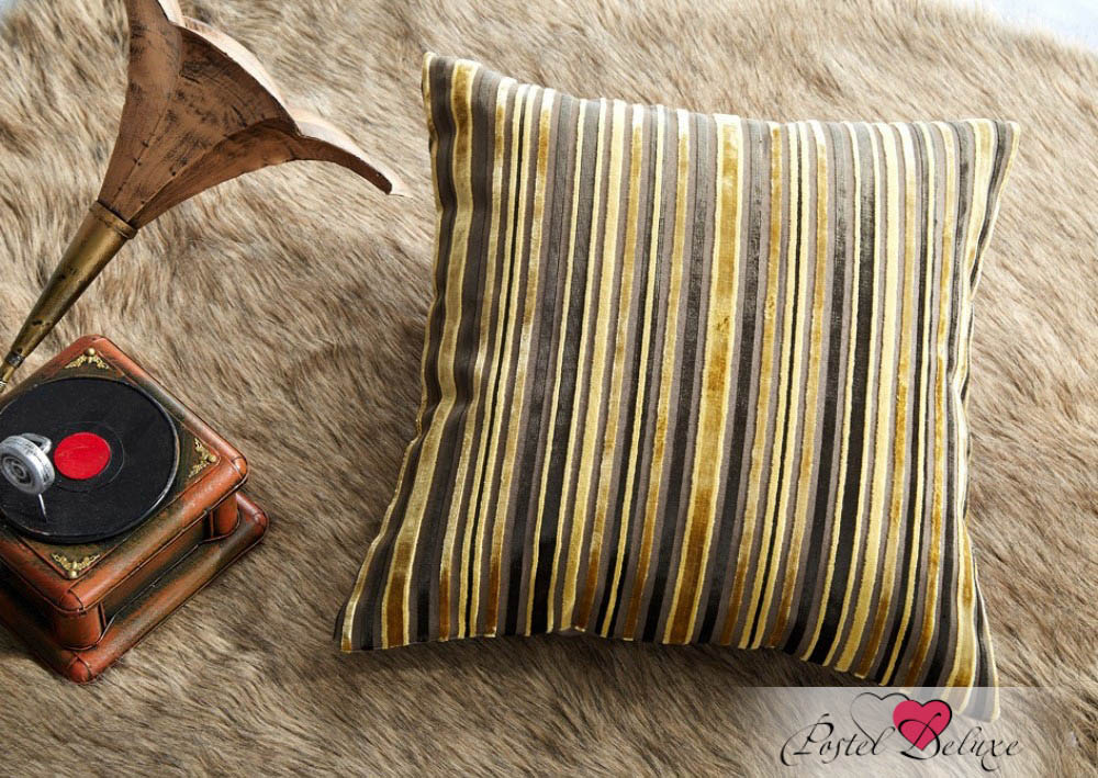 где купить Декоративные подушки Asabella Декоративная наволочка Caterpillar Цвет: Чёрный С Золотом (43х43) по лучшей цене