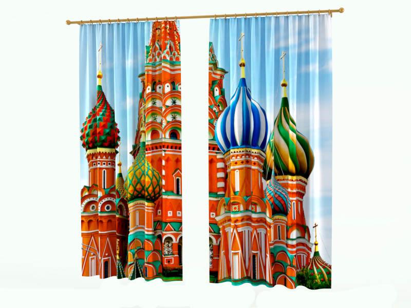 Шторы StickButik Фотошторы Русский Храм