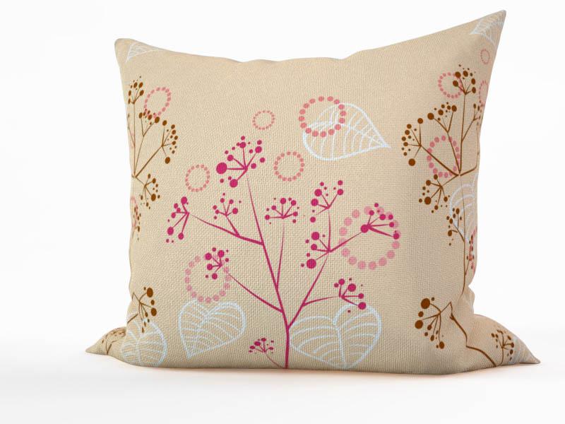 Декоративные подушки StickButik Декоративная подушка Белые Листья (45х45)