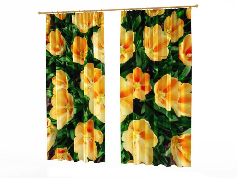 Шторы StickButik Фотошторы Голландские Тюльпаны шторы stickbutik фотошторы тюльпаны над водой