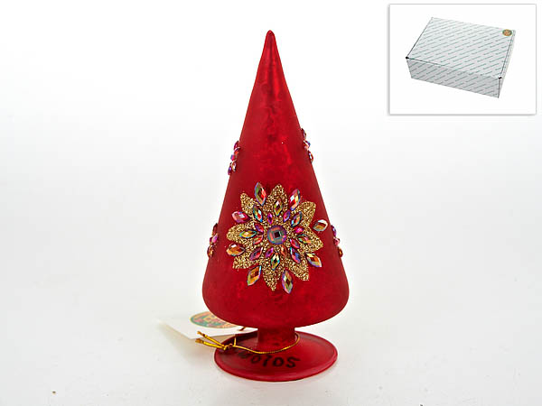 {} Monte Christmas Фигурка Красный Цветок (14,5x6 см) monte christmas фигурка музыкальная monte christmas n9750006 мульти