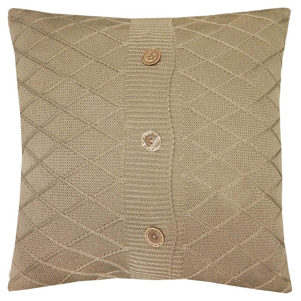 Декоративные подушки Apolena Декоративная наволочка Beige Rhomb (45х45) вязаный чехол для подушки rose rhomb 45х45 см 1253613