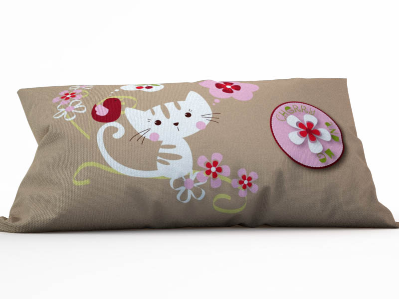 где купить Декоративные подушки StickButik Декоративная подушка Удивленный Котенок (25х45) по лучшей цене