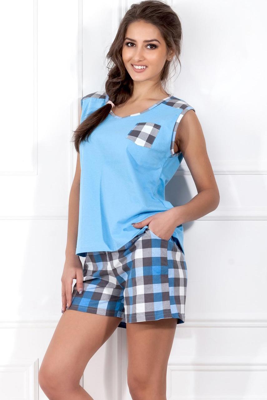 Пижамы Pastilla Пижама Сорренто Цвет: Голубой (S) пижама жен mia cara майка шорты botanical aw15 ubl lst 264 р 42 44 1119503