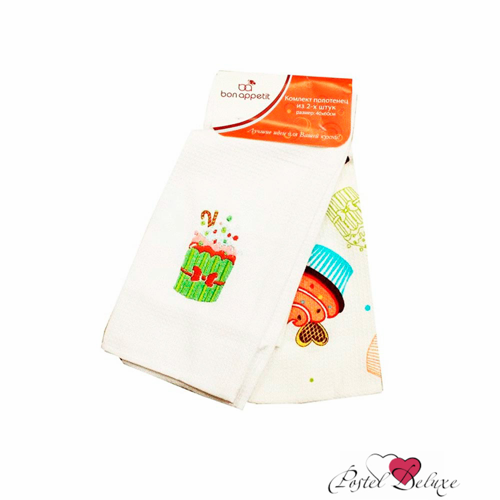 {} Bon Appetit Кухонное полотенце Cake Цвет: Зеленый (40х60 см - 2 шт) полотенце кухонное bon appetit деко цвет белый коричневый 63 см х 38 см