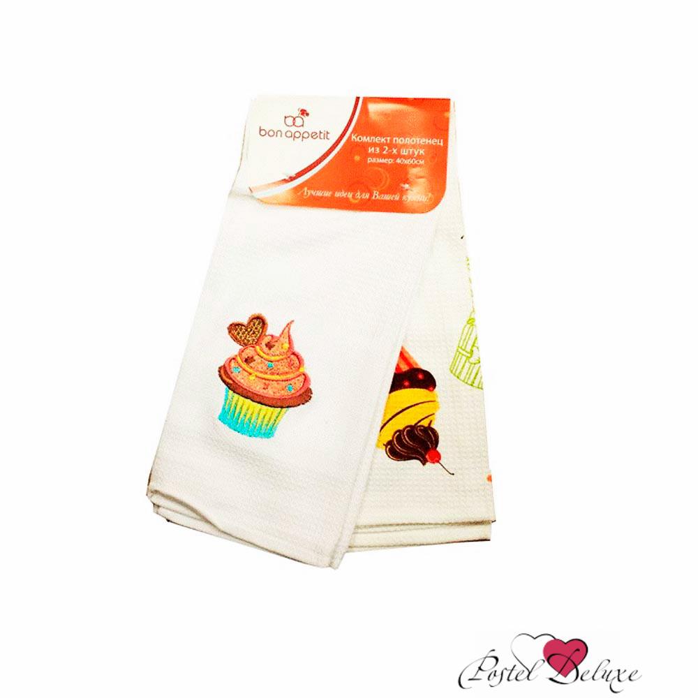 {} Bon Appetit Кухонное полотенце Cake Цвет: Голубой (40х60 см - 2 шт) полотенце кухонное bon appetit деко цвет белый коричневый 63 см х 38 см