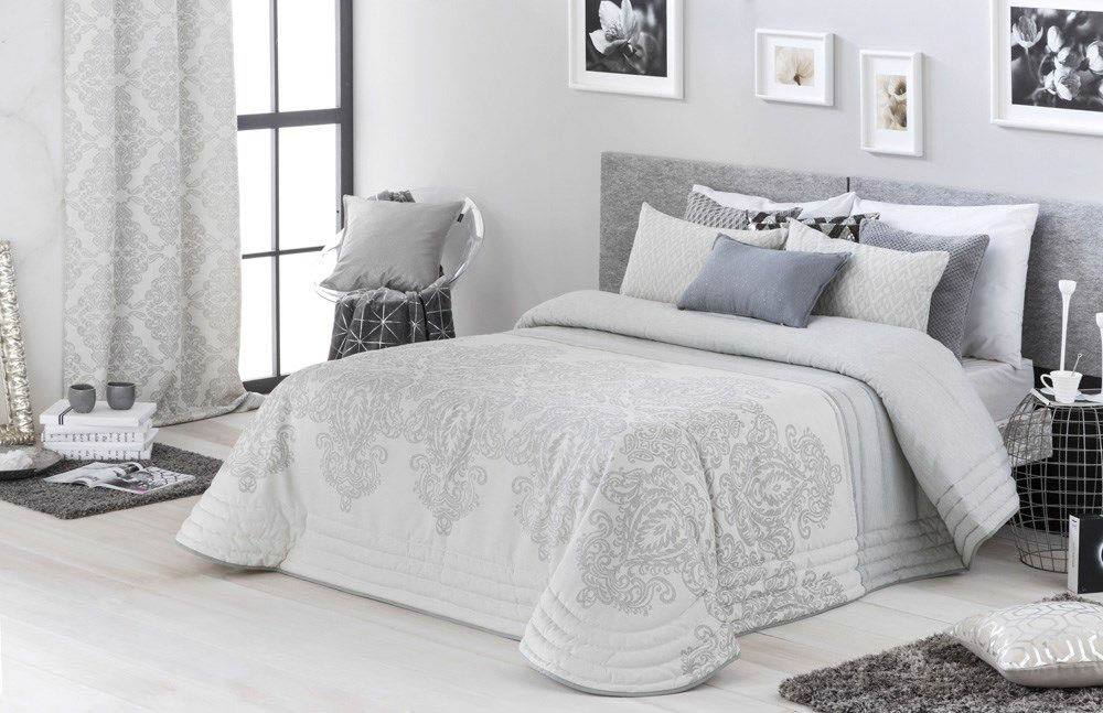 где купить Покрывало Antilo Покрывало Neiba Цвет: Серый (235х270 см) по лучшей цене