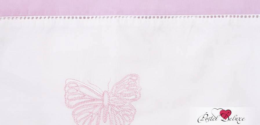 Детское постельное белье и комлекты BOVI Чехол для бампера Бабочки Цвет: Белый-Лаванда бампера на приору в ростове