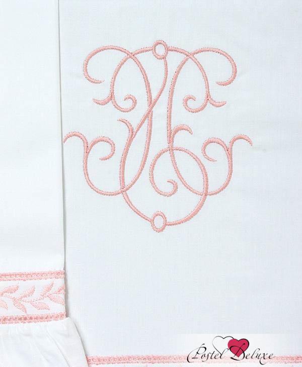 Детское Постельное белье BOVI Постельное белье Вензель Цвет: Белый-Розовый (100х140 см) ермолино детское байковое 100х140 см