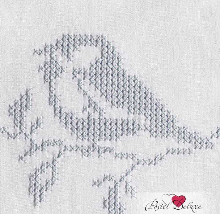 Детское Постельное белье BOVI Постельное белье Синички Цвет: Белый-Голубой (100х140 см) ермолино детское байковое 100х140 см