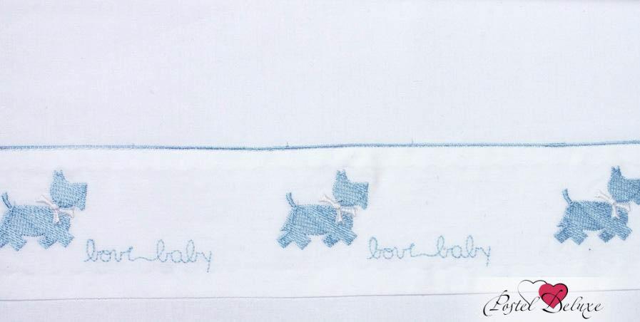 Детское постельное белье и комлекты BOVI Чехол для бампера Собачки Цвет: Белый-Голубой бампера на приору в ростове