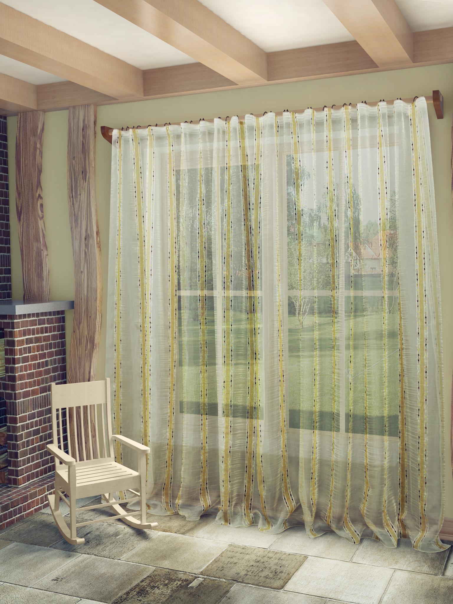 купить Шторы Sanpa Классические шторы Брук Цвет: Бежево-Коричневый дешево