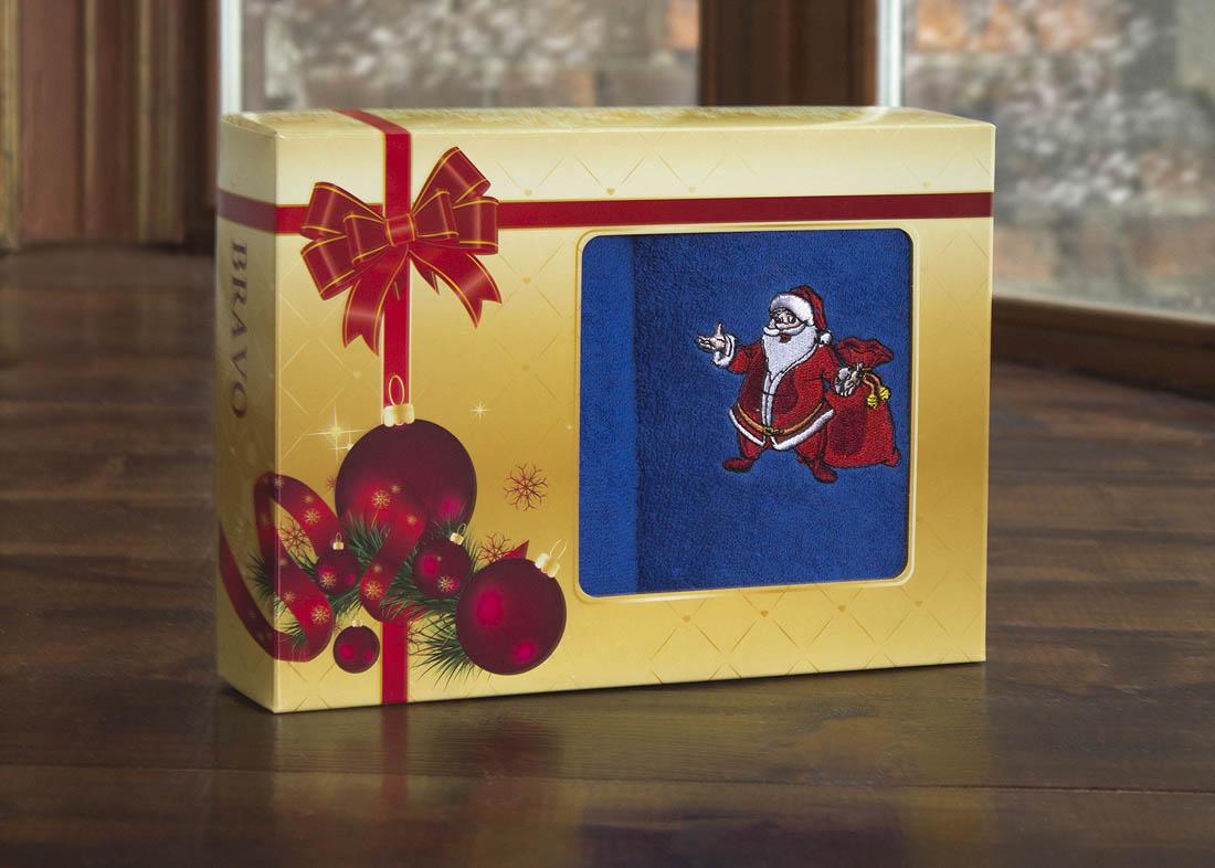 Полотенца BRAVO Полотенце С Новым Годом! Цвет: Синий (40х60 см - 2 шт) bravo полотенце детское пони 33 x 70 см 1089
