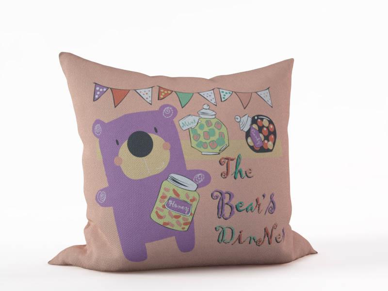 Декоративные подушки StickButik Декоративная подушка Обед Медведя (45х45)