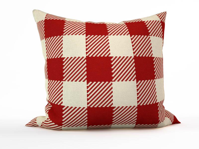 Декоративные подушки StickButik Декоративная подушка Красные Квадраты (45х45)