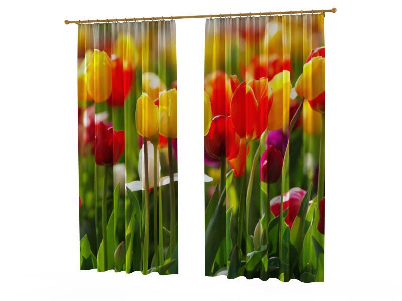Шторы StickButik Фотошторы Весенние Тюльпаны шторы stickbutik фотошторы тюльпаны над водой