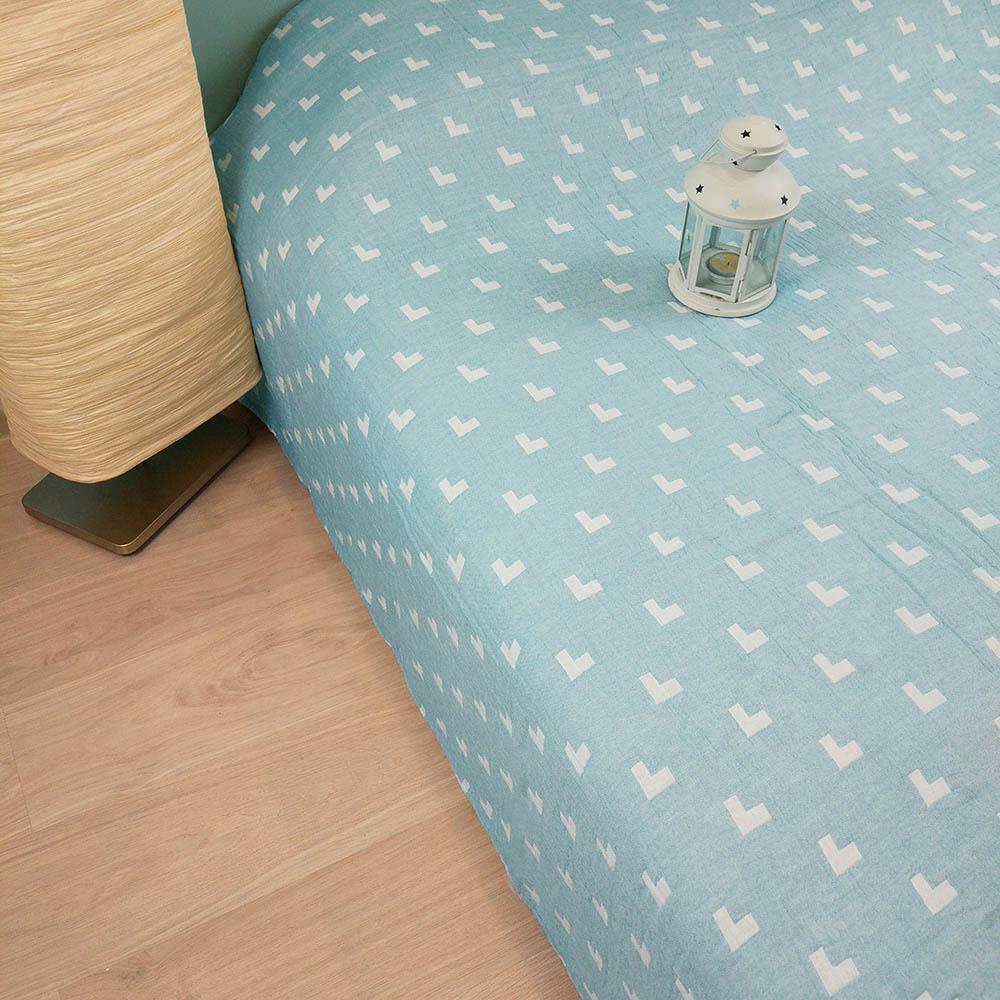 Покрывало Arloni Покрывало Галочки Цвет: Голубой (150х200 см) плед arloni снежный барс 150 x 200 см о 12 4