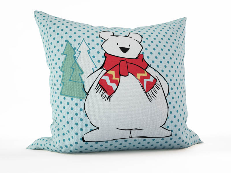 где купить Декоративные подушки StickButik Декоративная подушка Белый Мишка (45х45) по лучшей цене