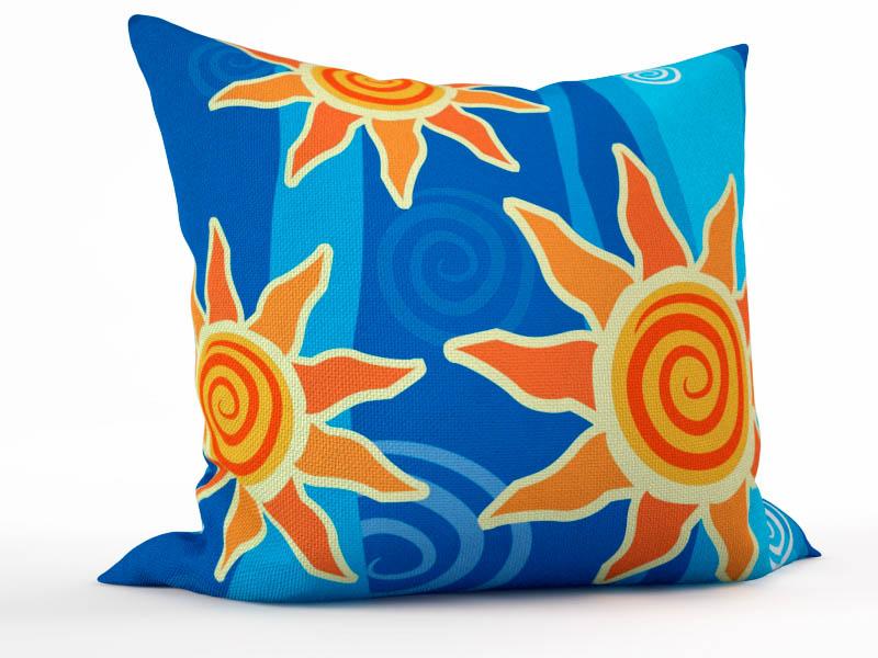 Декоративные подушки StickButik Декоративная подушка Солнечные Подсолнушки (45х45)