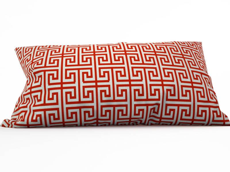 где купить Декоративные подушки StickButik Декоративная подушка Алый Меандр (25х45) по лучшей цене