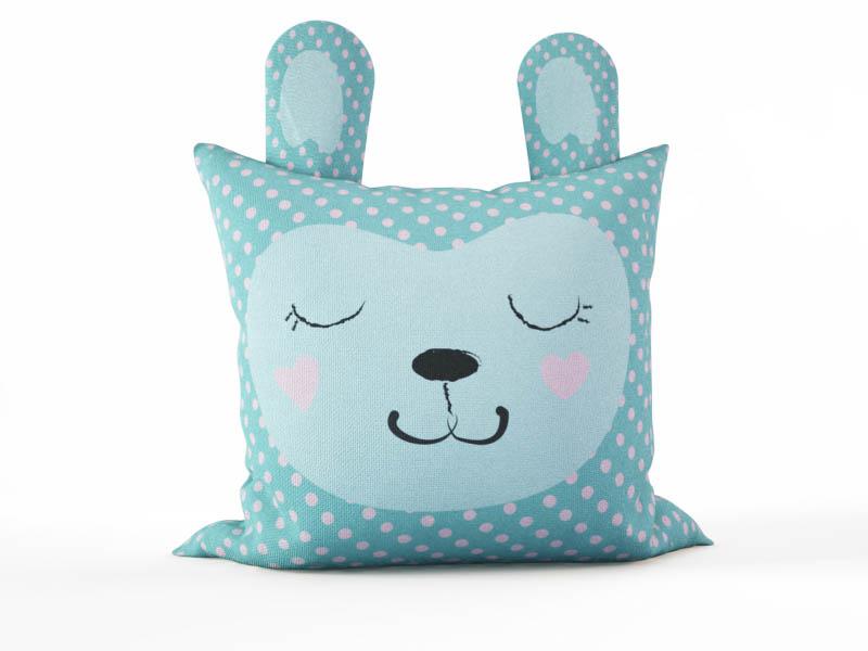 Декоративные подушки StickButik Декоративная подушка Спящий Зайка (45х45)