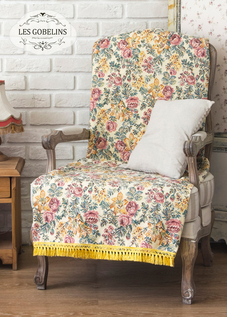 Покрывало Les Gobelins Накидка на кресло Arrangement De Fleurs (90х200 см)