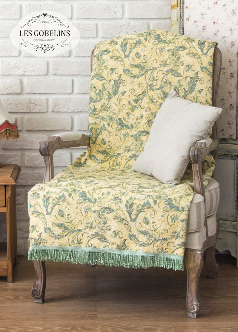 Покрывало Les Gobelins Накидка на кресло Jeune Verdure (60х160 см)