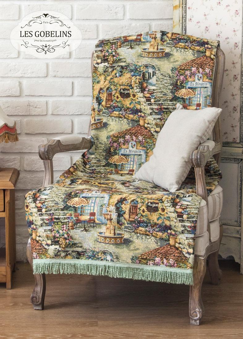Покрывало Les Gobelins Накидка на кресло Jardin D'Eden (100х170 см) покрывало les gobelins накидка на кресло paroles or 100х170 см