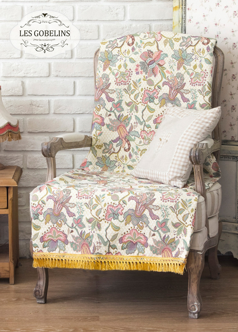 где купить Покрывало Les Gobelins Накидка на кресло Loche (80х180 см) по лучшей цене