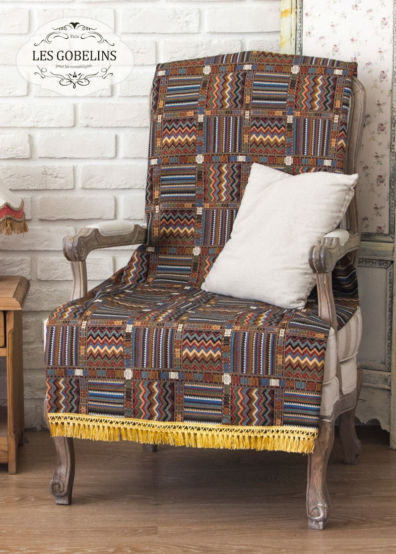 Покрывало Les Gobelins Накидка на кресло Mexique (50х130 см) покрывало les gobelins накидка на кресло mexique 90х200 см
