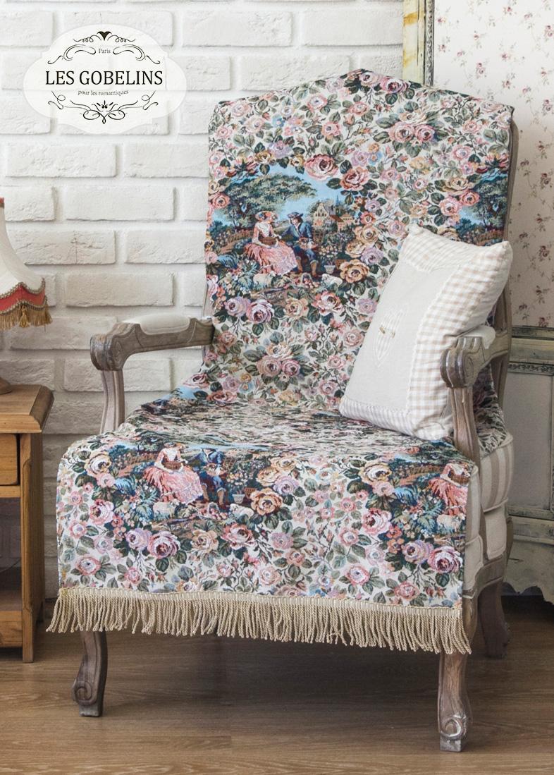 Покрывало Les Gobelins Накидка на кресло Poesie (90х160 см) пледы и покрывала les gobelins накидка на кресло muse 90х160 см