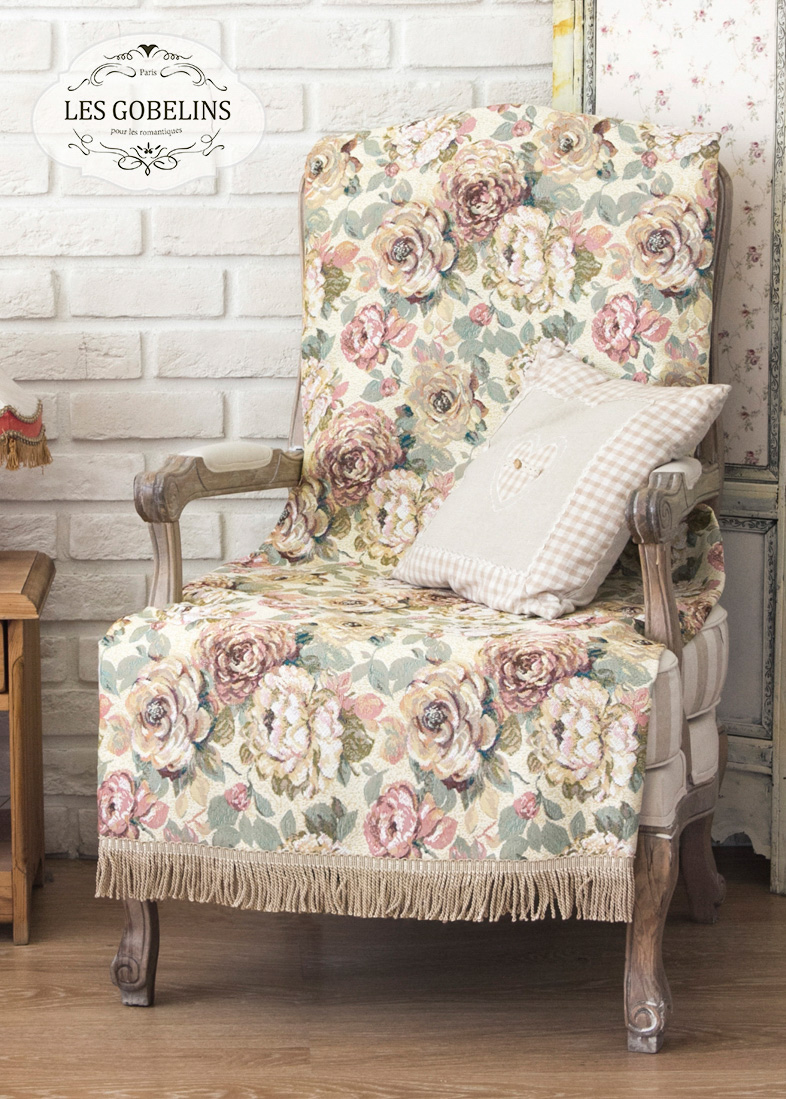 Покрывало Les Gobelins Накидка на кресло Fleurs Hollandais (60х190 см) покрывало les gobelins накидка на кресло fleurs hollandais 100х120 см